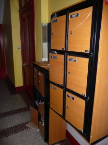 Letter boxes from door