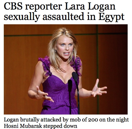 lara logan attack. journalist Lara Logan on