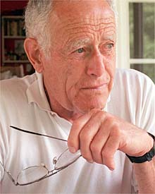 Portrait of the writer James Salter